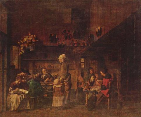 Ian Joseph Horemans. The workshop of the shoemaker