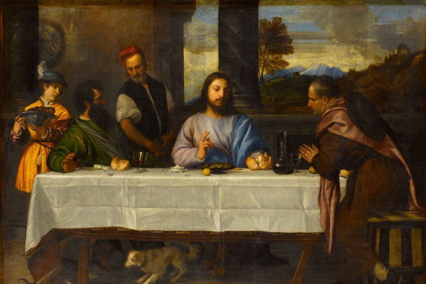 Titian Vecelli. Supper at Emmaus