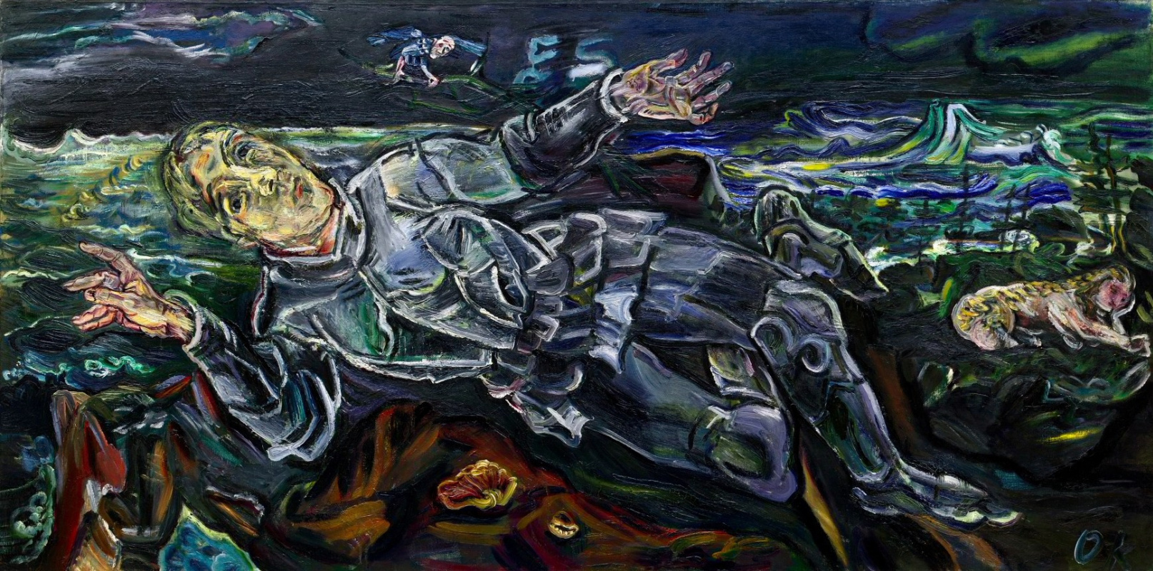 Oskar Kokoschka. A knight errant (Self-portrait)