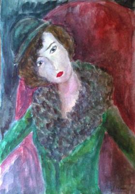 Zina Vladimirovna Parisva. Девушка в кресле