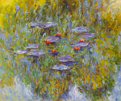 Savely Kamsky. Water Lilies, N26, a copy of Claude Monet's painting