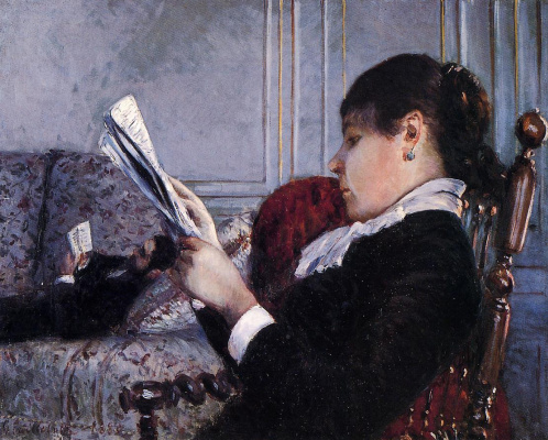 Гюстав Кайботт. Интерьер,женщина читает