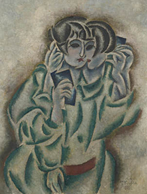 Zuguharu Fujita (Léonard Fujita). Cubic woman