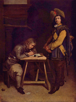 Gerard Terborch (ter Borch). Letter officer