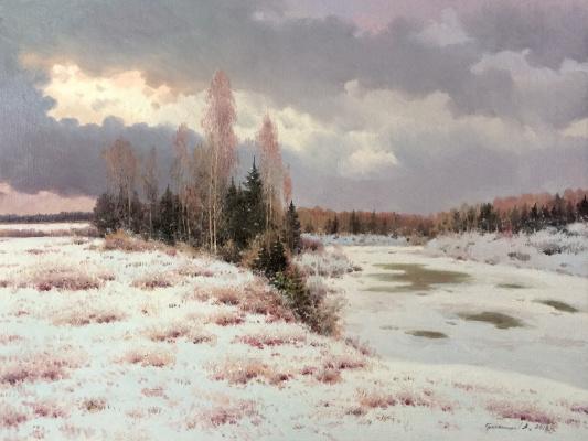 Vasily Ivanovich Gribennikov. Gloomy winter day