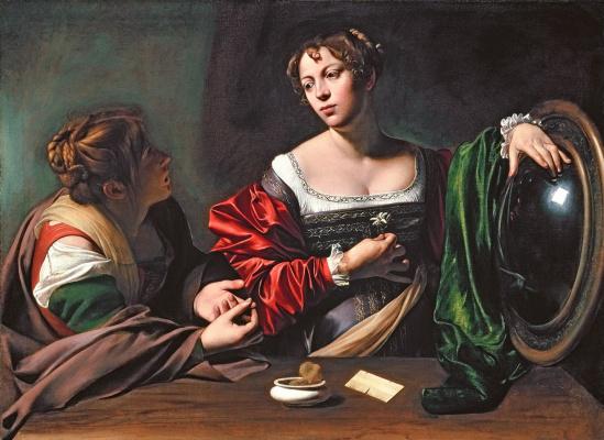 Michelangelo Merisi de Caravaggio. Martha and Mary Magdalene