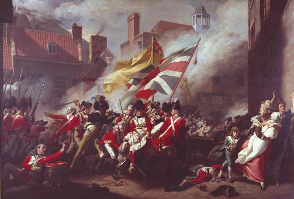 John Singleton Copley. The death of major Pierson, 6 January 1781 (Sturm Jersey)
