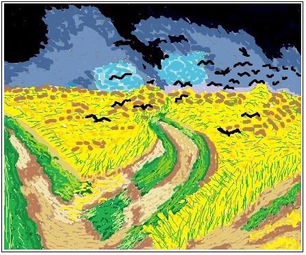 Mariya Pretser. Digital wheat field