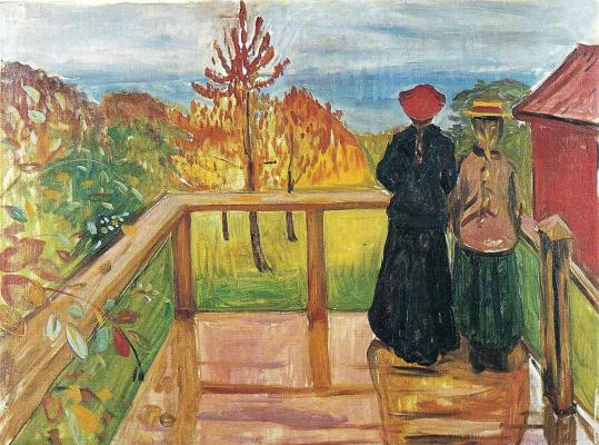 Edvard Munch. Rain