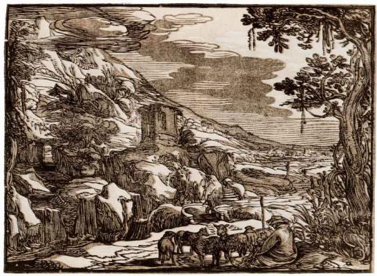 Хендрик Гольциус. Аркадский пейзаж