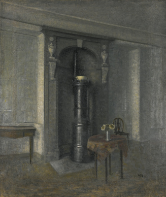 Vilhelm Hammershøi. Marble niche interior