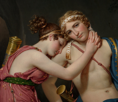 Jacques-Louis David. The farewell of Telemachus and of the Eucharist. Fragment