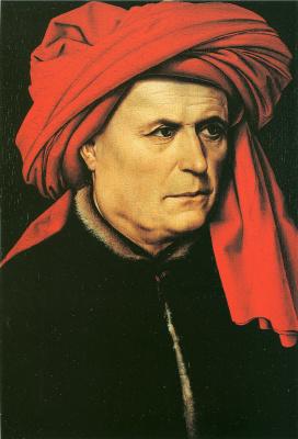 Робер Кампен. Портрет мужчины в красном тюрбане