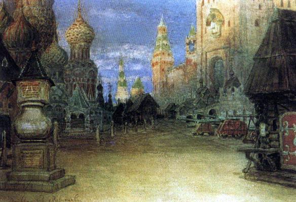Apollinarius Mikhailovich Vasnetsov. Red square