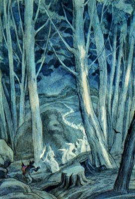 Carlos Sáenz de Tejada. Illustration for the Living forest
