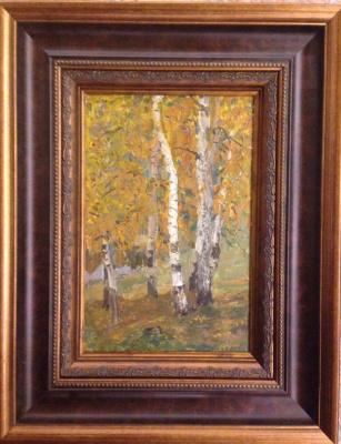 """Vyacheslav Andreevich Fedorov. """"Autumn birch"""""""