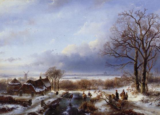 Андреас Схелфхаут. Зимний пейзаж