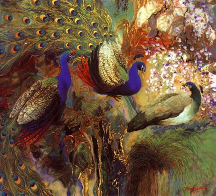 Чыонг Бу Гиам. Голубые павлины
