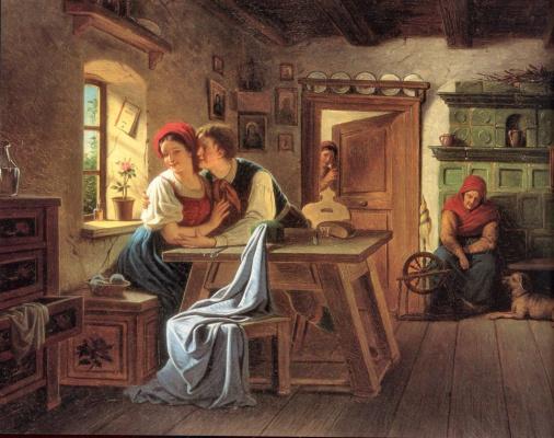 Иоганн Куртвейл. Влюбленные в кухне