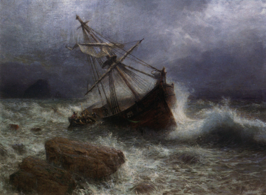Lev Feliksovich Lagorio. Storm on the sea
