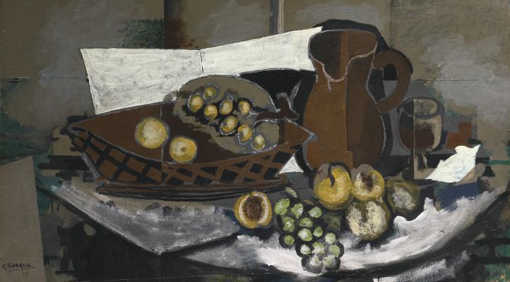Жорж Брак. Натюрморт с корзиной фруктов