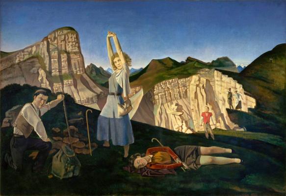 Balthus (Balthasar Klossovsky de Rola). The mountains