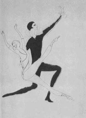 Nadezhda Nikolaevna Rusheva. Dance of Pierrot and Columbine
