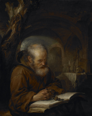 Gerrit (Gerard) Dow. A hermit at prayer