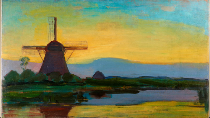 Piet Mondrian. Mill at night