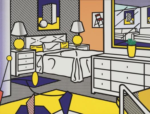 Roy Liechtenstein. The interior with the movement