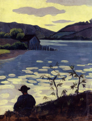 Paul Sérusier. Fisherman on the river