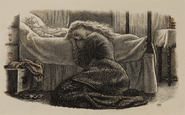 Arthur Hughes. Death of a younger child
