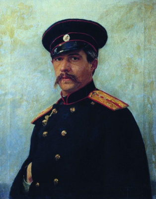 Ilya Efimovich Repin. Portrait of a military engineer, captain A. A. Shevtsova (1847-1919), brother of the artist's wife