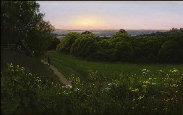 Alexander Mikhailovich Sushenok. Sunset