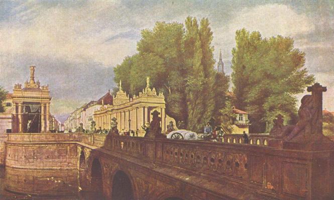 Эдуард Гертнер. Королевский мост в Берлине
