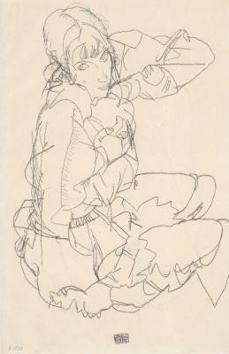 Egon Schiele. Seated woman