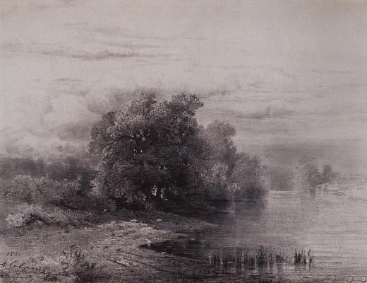 Alexey The Kondratyevich Savrasov. Trees by the river