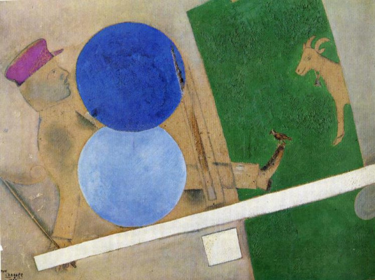Marc Chagall. Composition with circles and goat