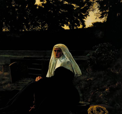 John Everett Millais. The valley of peace. Fragment