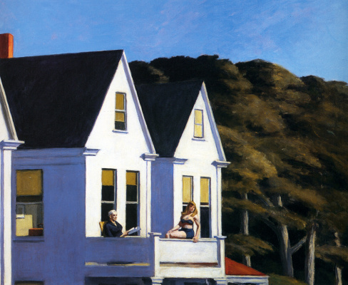 Edward Hopper. The sunlight on the second floor