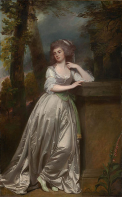 George Romney. Portrait of Anne, Lady de la Paul