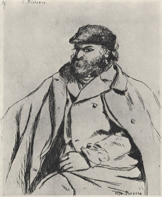 Camille Pissarro. Portrait Of Paul Cézanne