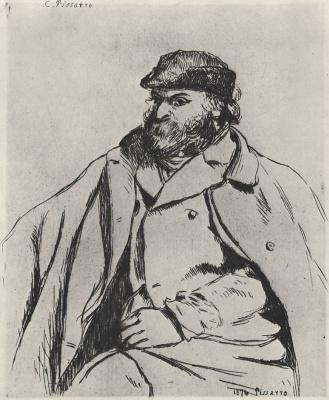 Camille Pissarro. Portrait Of Paul Cézanne