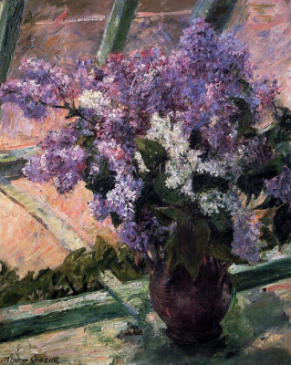 Mary Cassatt. Lilacs on the window