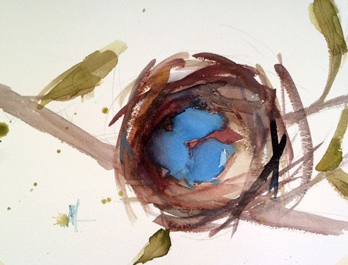 Angela Moulton. A nest of Robins