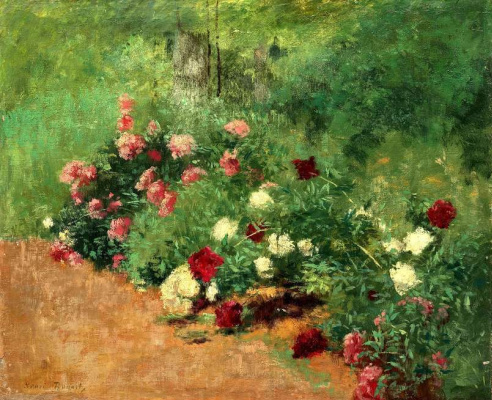 Stanislas-Henri Rouart. Flower bed