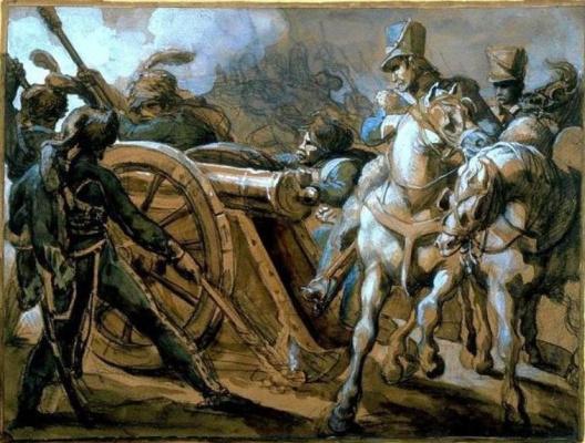 Теодор Жерико. Артиллерия в бою