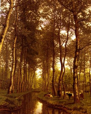 Жан-Пьер-Франсуа Ламориньер. Деревья у канала