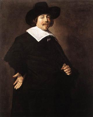 Frans Hals. Portrait of a man. Perhaps albert van Nierop