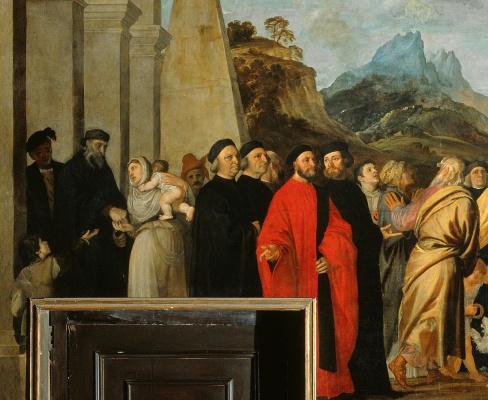 Тициан Вечеллио. Введение Марии во храм. Фрагмент 4